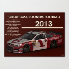 2013 #OU #Sooner football schedule. Canvas Print