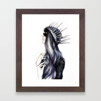 Ice Queen // Fashion Ill… Framed Art Print