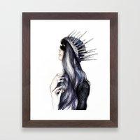 Ice Queen // Fashion Ill… Framed Art Print
