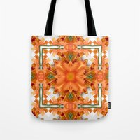 Abstract Kaleidoscope Of… Tote Bag