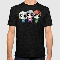 Golden Puff Girls Mens Fitted Tee Tri-Black SMALL