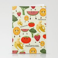 Fruity Collage Stationery Cards