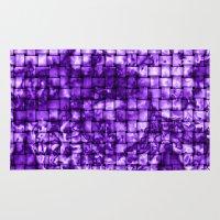Purple Satin Weave Effec… Rug