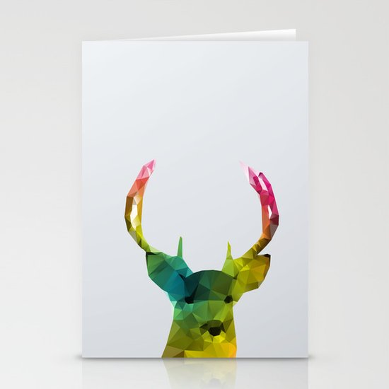 Glass Animal - Deer head Stationery Card