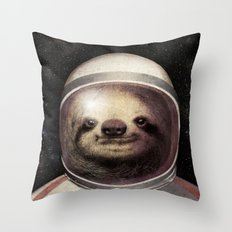 Space Sloth  Throw Pillow