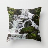 Cascades Below Throw Pillow