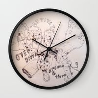 over around under and through Wall Clock