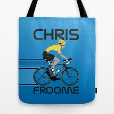 Chris Froome Yellow Jersey Tote Bag