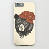 winter iPhone & iPod Cases featuring zissou the bear by Laura Graves
