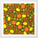 A Splash of Citrus Art Print