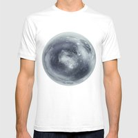 Pluto Mens Fitted Tee White SMALL