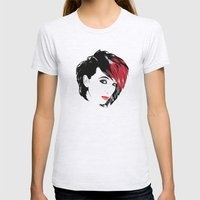 minimal girl 2 Womens Fitted Tee Ash Grey SMALL