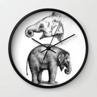 Baby Elephant study G2011-008c Wall Clock
