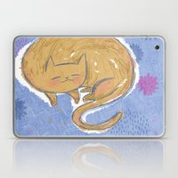 Sleepy Kitty Dreams Laptop & iPad Skin