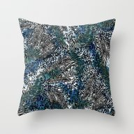 Zebra And Leopard Patter… Throw Pillow