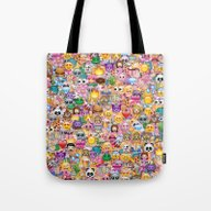 Tote Bag featuring Emoji / Emoticons by Marta Olga Klara