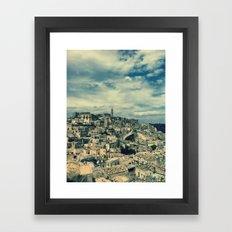 I sassi di Matera Framed Art Print