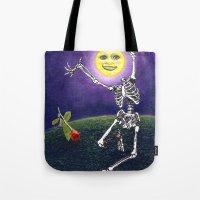 Skeleton Moon Tote Bag