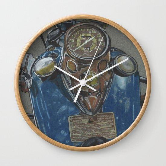 Harley Davidson Knucklehead Wall Clock By Themainsketch Society6