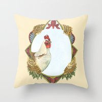 Quilted Forest // Charle… Throw Pillow