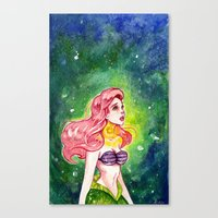 The Little Mermaid - Ariel watercolor Canvas Print