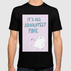 absolutely fine SMALL Mens Fitted Tee Black