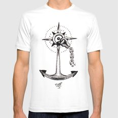 Ancla Mens Fitted Tee SMALL White