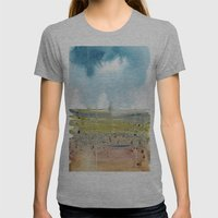 Left Coast Impressions 5 Womens Fitted Tee Athletic Grey SMALL