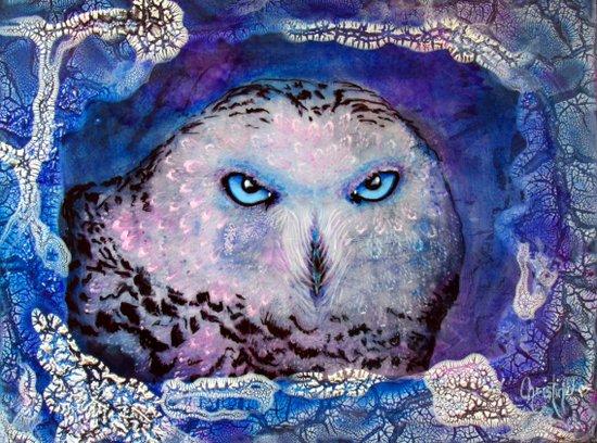 Ole Blue Eyes Art Print