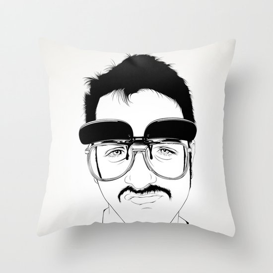Bigotaco Throw Pillow