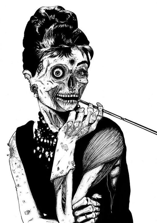 Zombie at Tiffany's Art Print