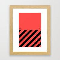 Infrared Lines / Black Framed Art Print