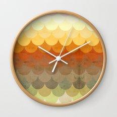 Half Circles Waves Color Wall Clock