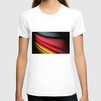 Flag Of Germany Womens Fitted Tee White SMALL