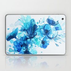 Blue Watercolor Floral Laptop & iPad Skin