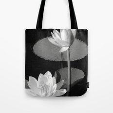 Black & White Lilypad Tote Bag
