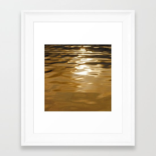 Water abstract H2O #37 Framed Art Print