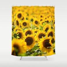 Through Fields of Light - Sunflowers Shower Curtain