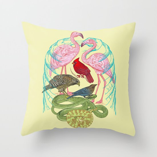 Wild Anatomy II Throw Pillow