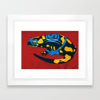 Salamander Framed Art Print