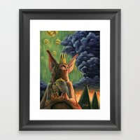 The Caged Bird And The B… Framed Art Print