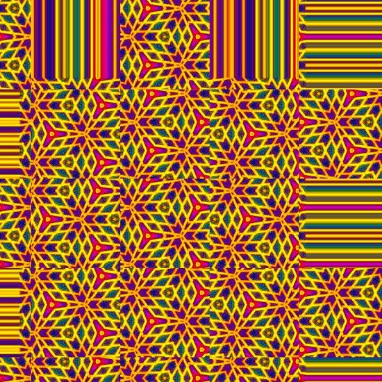 Starburst Pattern Art Print