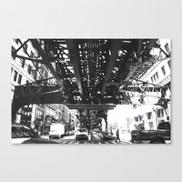 tracked Canvas Print
