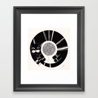 cats life: playing Framed Art Print