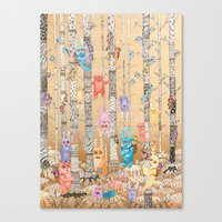 Monster forest Canvas Print