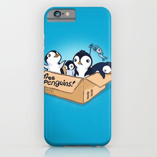 Free Penguins! iPhone & iPod Case