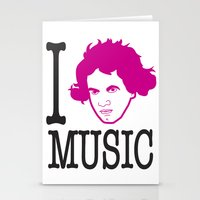I __ Music Stationery Cards