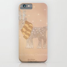 Christmas creatures- The Cozy Deer iPhone 6 Slim Case