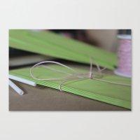 Green Envelopes Canvas Print