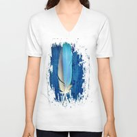 Blue Bird Unisex V-Neck